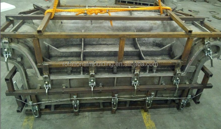 China Rotational moulding plastic water oil fuel urea tanks mold, rotomolding container mould, plastic dustbins box roto mould