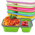 BPA FREE outdoor silicone foldable lunch box