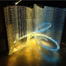 User Design !!! Wholesale China manufacturing Smart Side & End glow fiber optic crystal ceiling lamp hotel decorative chandelier