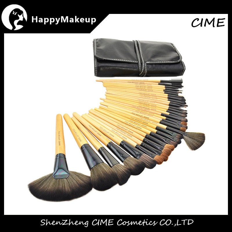 Factory Price Pro 32pcs Makeup Tools Synthetic Soft Brushes Set Make up Cosmetic with PU case