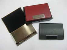 Corporate Gifts Singapore - Customised PU Leather Name Card Case in gift box