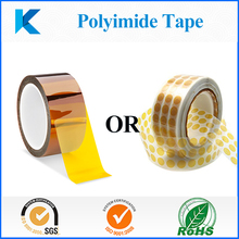 Customized polyimide tapes, die cutting round tape for masking