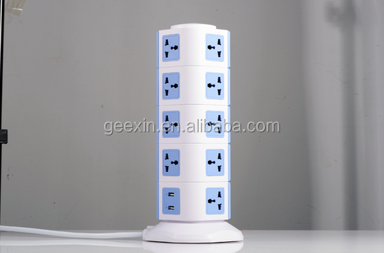 Tower Extension 1A USB Multi Universal Outlet Socket