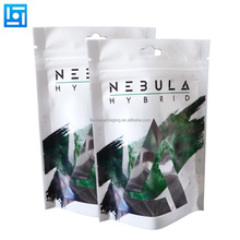 Custom logo printing resealable zip lock stand up mylar aluminum foil bags for food indica&sativa