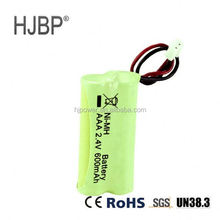 2.4v rechargeable battery ni mh 2.4v battery pack 600mah