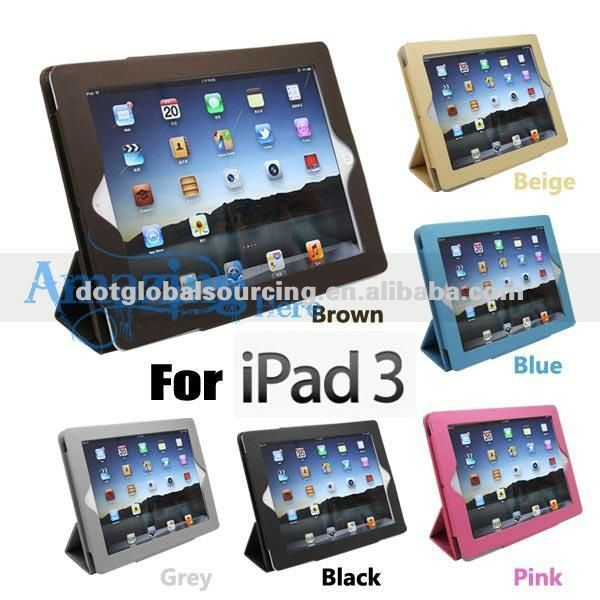 Wholesale Crystal Clear Stand Case Hard Back Cover for the New iPad 3 III 3rd Gen Apple