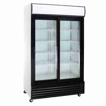 Double Door Upright Cooler with Single Internal Horizontal Light