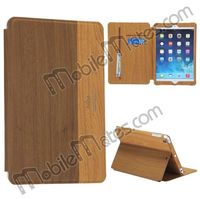 Kajsa Wood Pattern Stand Flip Leather Case for iPad Mini 2 Retina iPad Mini