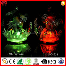 Led christmas glass ball with mini snowman inside