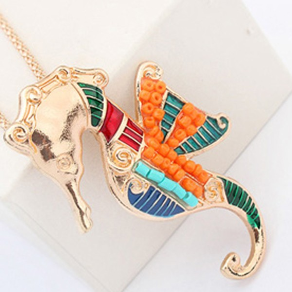 Fashion New Hippocampus Jewelry Necklace And Earring Sets