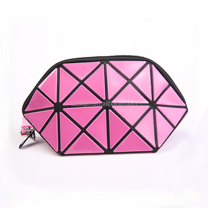 trendy red color mini size travel PU cosmetic bag wholesale