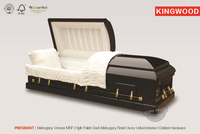 PRESIDENT High Polish casket cart with casket cover