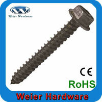 Hex Washer Head Lag Screws Full Threaded Serrated