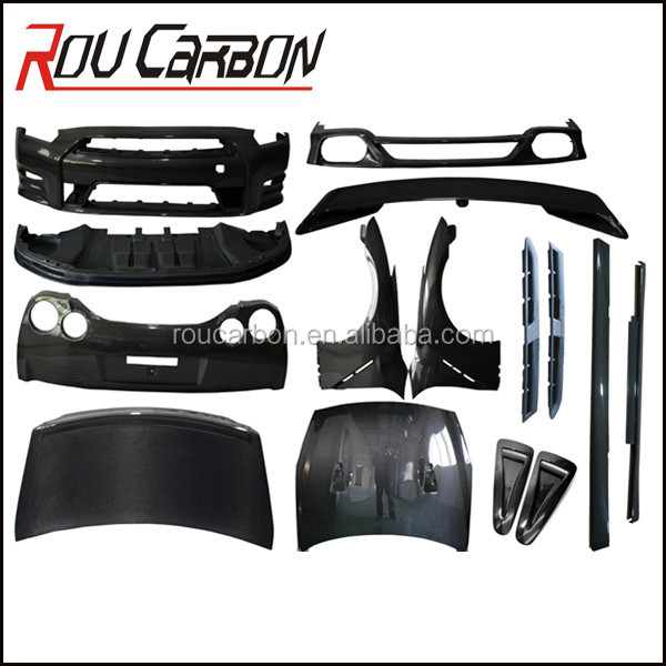 High Quality Carbon Fiber body kits For GTR R35 2012 OEM Style