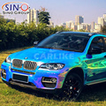 CARLIKE Colorful Chrome Rainbow Holographic Decoration Vinyl Car Body Sticker