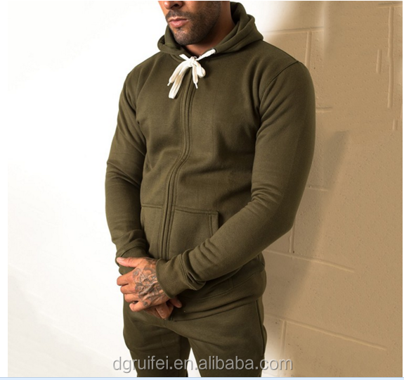 custom mens gym tracksuit bodybuilding sportswear slim fit plain tracksuit
