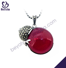 Wholesale round agate thai silver amethyst necklace
