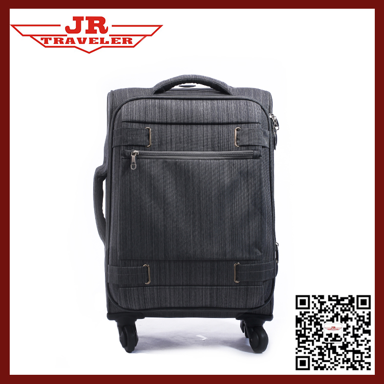 Stripe Polyester Trolley luggage, suitcase for short business trip