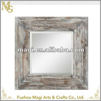 rectangle framed rustic antique french mirror photo