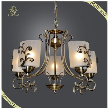 Suspended Chandelier Antique Brass Light Fixture Classic Decorative Lighting Chandelier