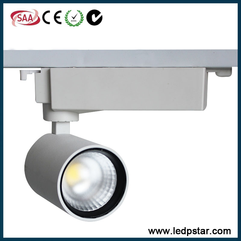 10-12w led track spotlamp white or black cob led track light commercial COB LED track light museum hotel