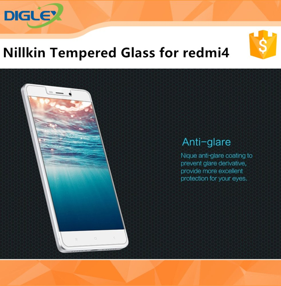 Nilkin Mobile Tempered Glass Screen Protector for Xiaomi Redmi4 9H Hard Anti-Scratch 0.33mm Super Thin Glass with High-Quality