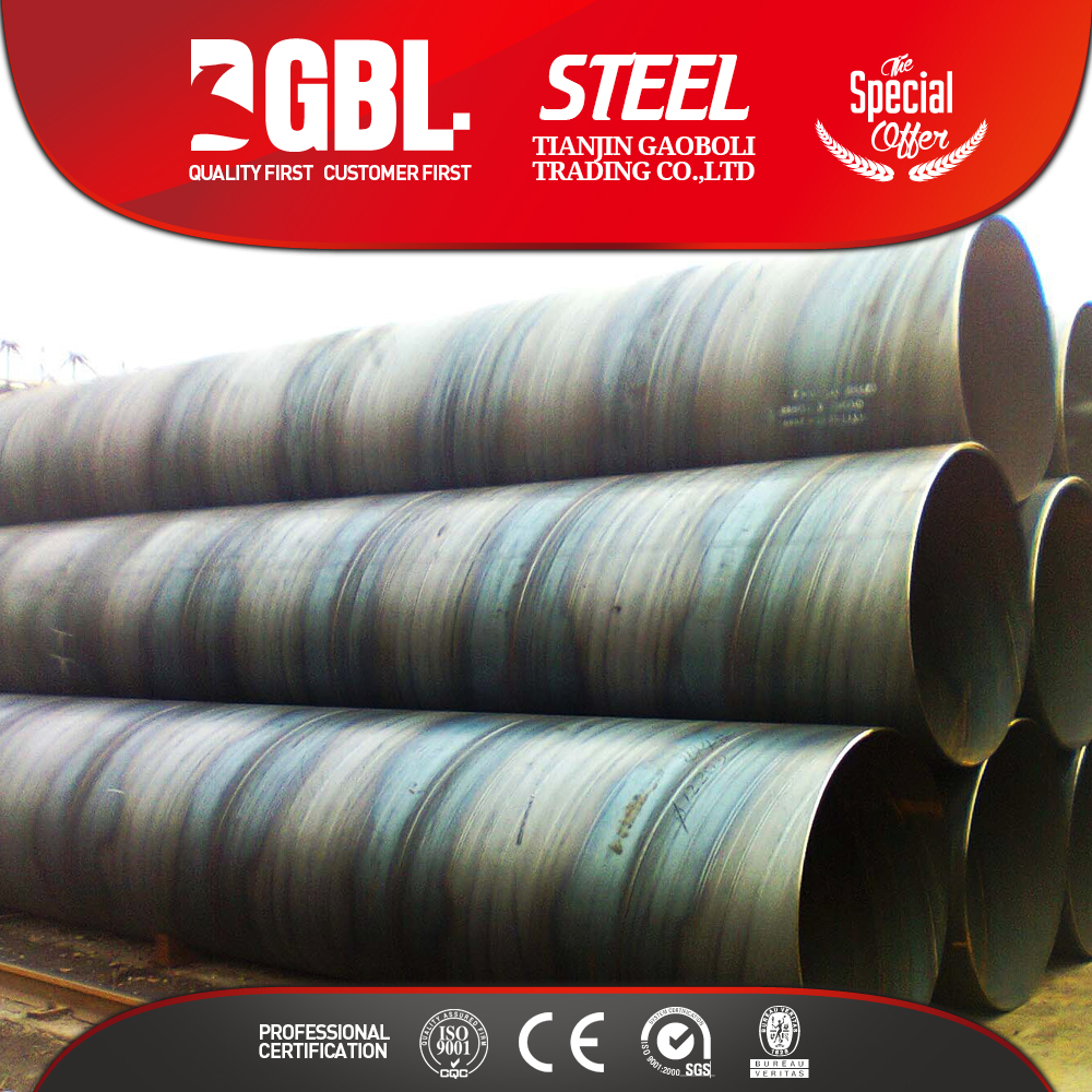 Weight of spiral welded steel pipes
