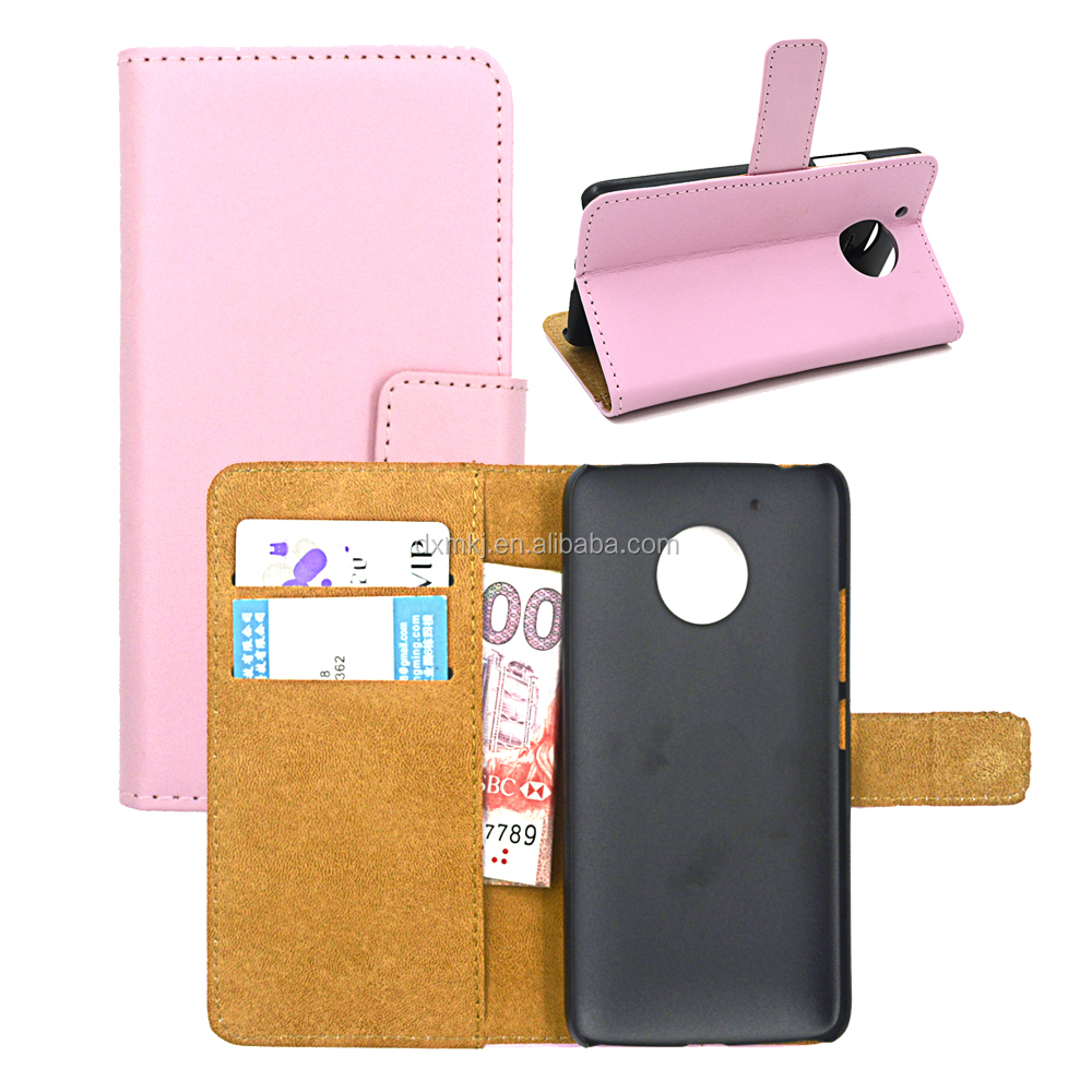 2017 New Composite PU Leather Wallet Phone Case For Moto G5 for Any Smart Phone Models Customized Logo