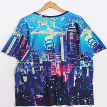 cheap digital sublimation printed 100%cotton tshirts