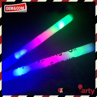 Cheap promotional concert cheering custom glow led foam stick
