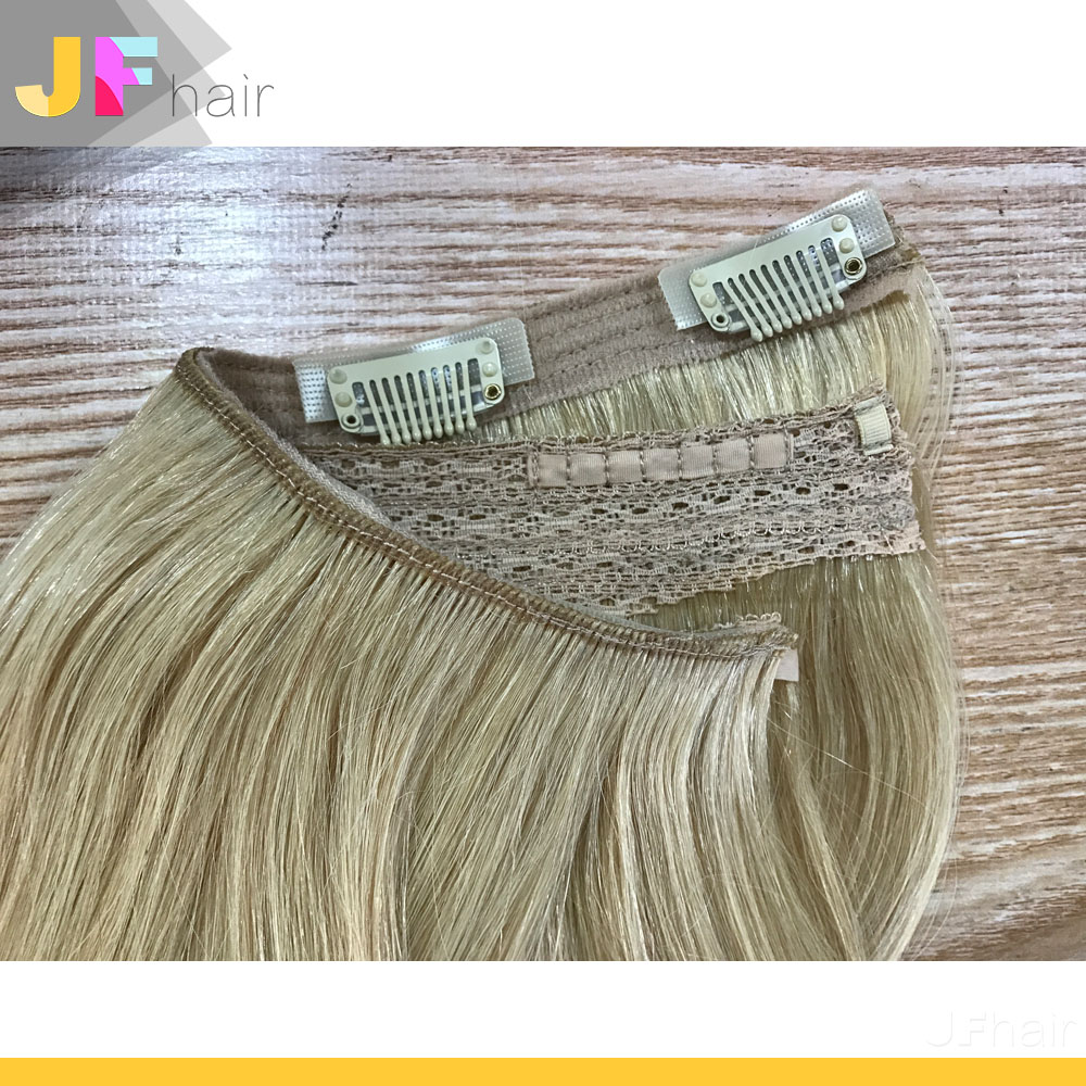 Easy to Wear and Remove New Human Hair Flip Halo In Hair Extension