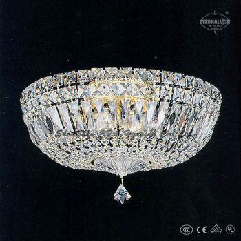 4 light lamparas chrome color crystal ceiling lamp ETL60010