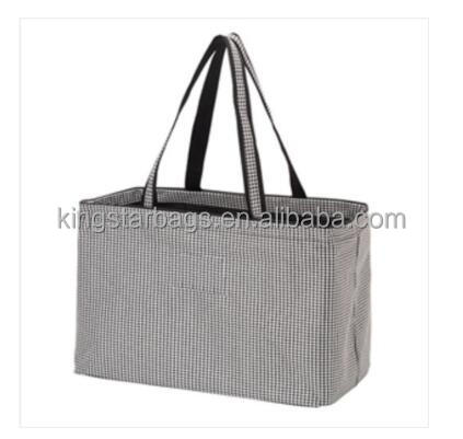 portable exposure polyester shopping tote bag