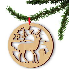 Christmas Tree Hanging Decoration Laser Cut Deer Wood Craft