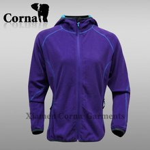 Customized anti-pilling purple sport fleece trekking jacket