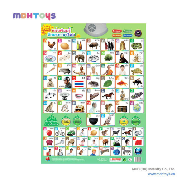 Thai And English Alphabet Learning Wall Charts With Sound - Buy