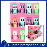 Printed Owls Rotating Tablet Case For iPad Air