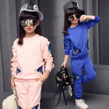 or20290a Baby Girls Clothing Sets Spring Autumn Clothes Suits Long Sleeve T-shirt+Pants 2PCS set
