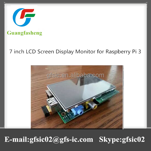 Good quality 7 inch LCD Screen Display Monitor for Raspberry Pi 3