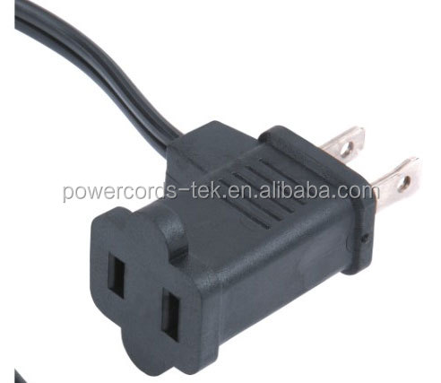 NEMA 1-15P America standard power cord with piggyback plug for UL CUL approved