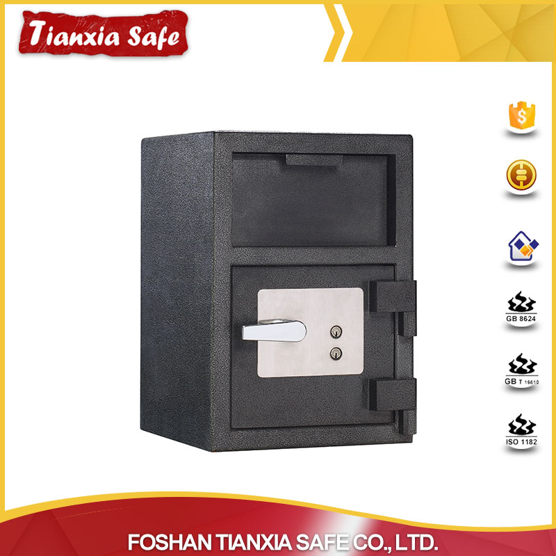 China supplier security metal two key safe box with low price
