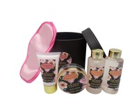 Enchanted Flora PU hat box bath gift set