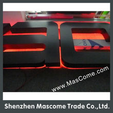 Paint back lit led letter sign for outdoor