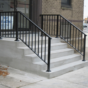 Outdoor Metal Handrail For Steps, Handrails For Interior Stairs