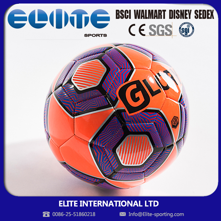 Elite Factory Wholesale Distinctive Machine Stitched Indoor Football EL17-MSF-I507 Red