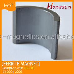 Y30BH ferrite magnet arc shape made in china