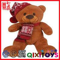 Plush Teddy Bear Stuffed Animal With Knitting T-shirt Clothes