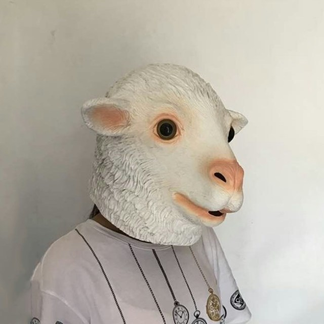 Hot Sale Halloween Goat Adult Animal Latex Mask
