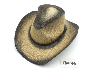 T60-33Wholesale New Style Summer Cowboy Paper Straw Hat For Mens