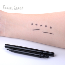 new liquid eyeliner pen with winged striped stamp double head liquid eyeliner pen 2in 1eyeliner pen star stamp